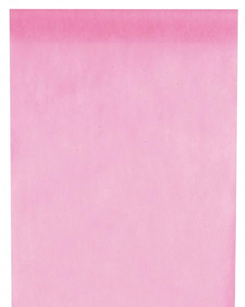 Tischläufer rosa Vlies 10 Meter Rolle