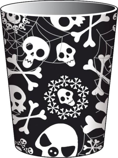 Halloween Piraten-Party Totenkopf Pappbecher 8 Stück