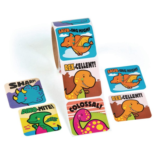 Dinosaurier Dino XL Aufkleber Sticker 100 Stück