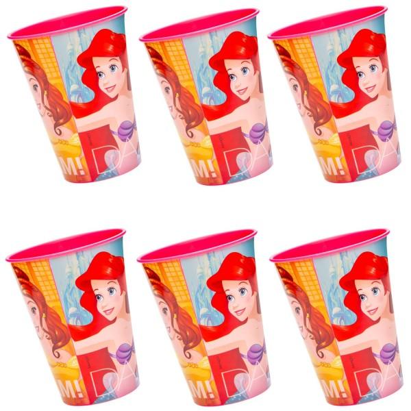 Disney Prinzessin Kunststoff Becher 6 Stück