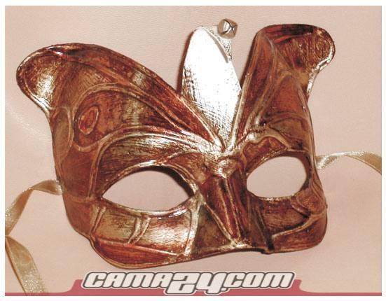 Venezianische Maske Trilly Silber