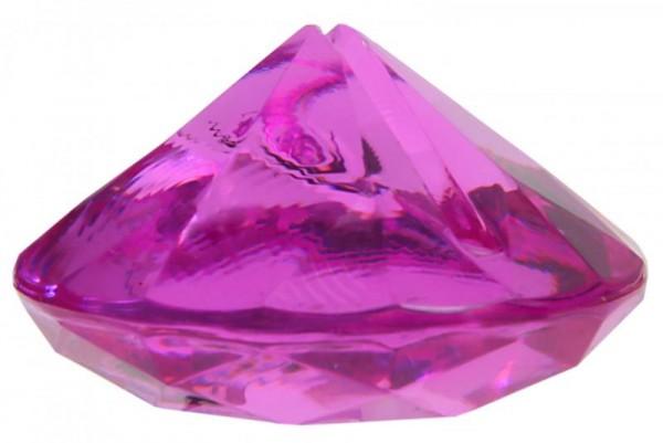 Tischkartenhalter Diamant Pink für Namensschild 4 Stück