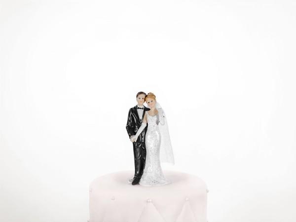 Hochzeitsfigur Brautpaar mit Brautschleier Tortenfigur