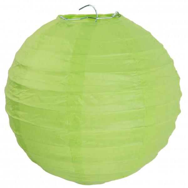 Lampions Grün Apfelgrün 50cm Durchmesser Laterne 1 Stück