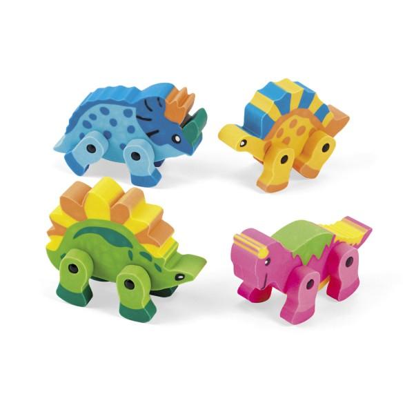 Dinosaurier Radiergummi 4 verschiedene Dinos 12 Stück