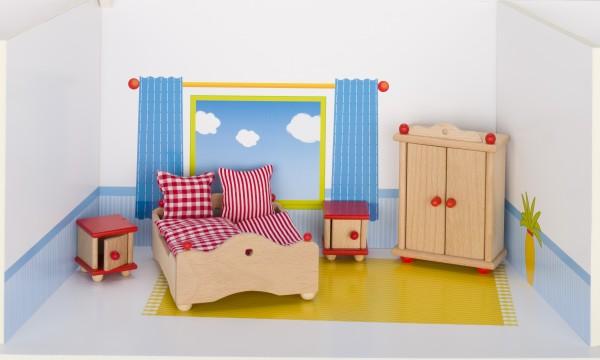 Puppenmöbel Schlafzimmer goki klassik Puppenstube
