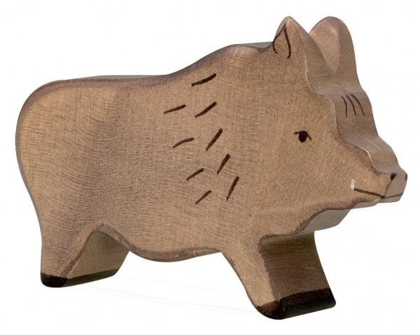 Eber Wildschwein Holzfigur Holzspielzeug Waldtier von Holztiger