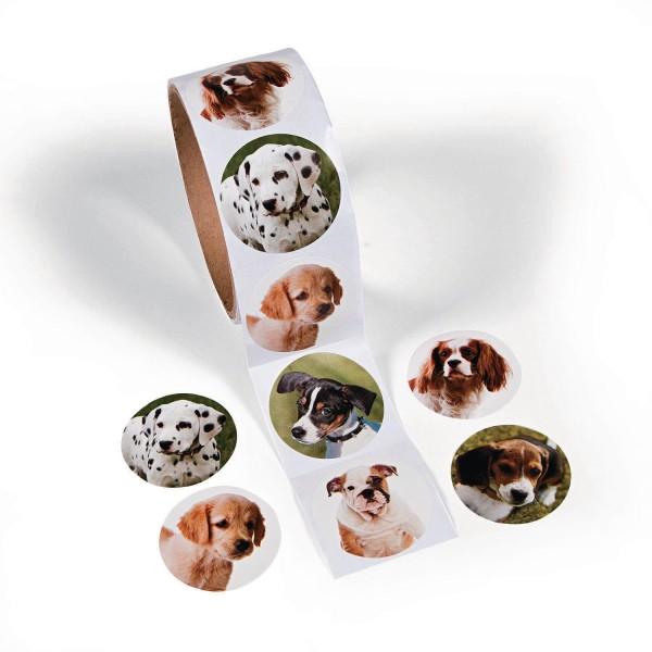 Hunde Aufkleber Sticker 100 Stück