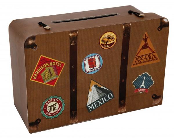 Umschlagbox Weltenbummler Reise Koffer