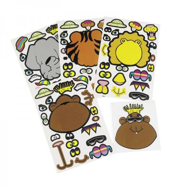 Aufkleber Safari Dschungel Tiere Sticker 12 Stück
