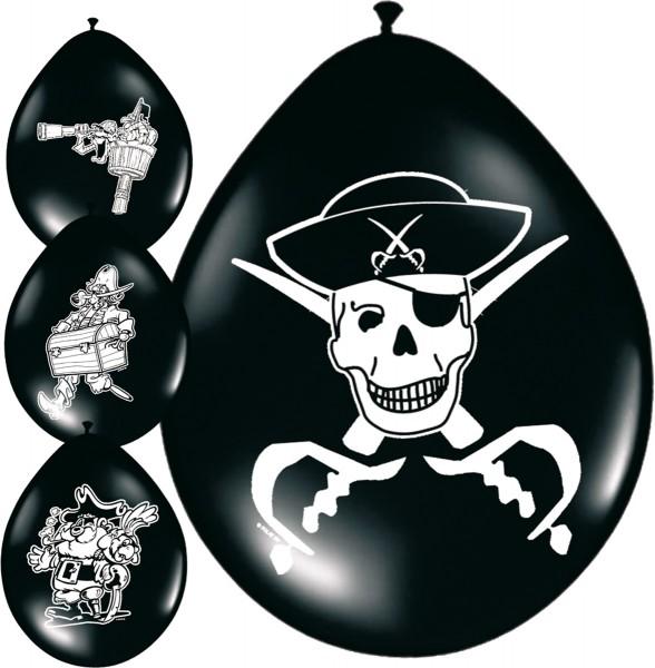 Piraten Party Luftballons 4 Motiven 8 Stück