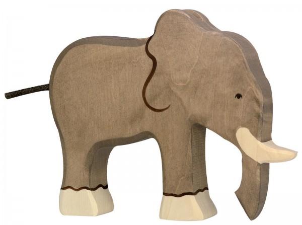 Holztiger Elefant Afrika Safari Holzfigur