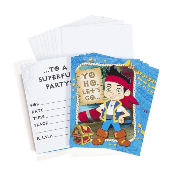 Jake und die Nimmerland Piraten Einladungskarten