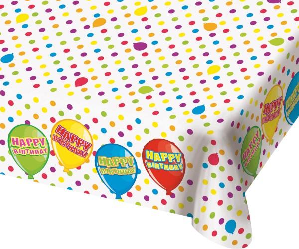 Happy Birthday Tischdecke Geburtstag Luftballon Motiv