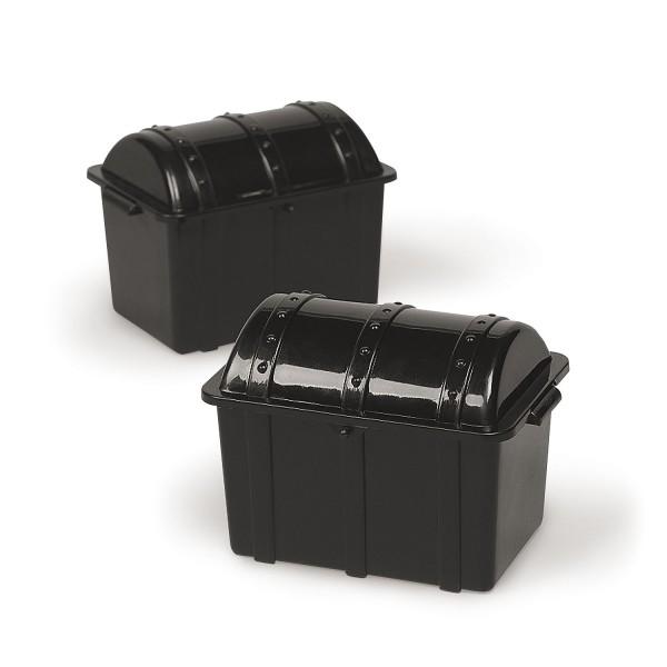 Piraten Schatztruhe schwarz Schatzkiste Plastik 12 Stück