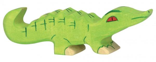 Krokodil klein Safari Holzfigur Holzspielzeug von Holztiger