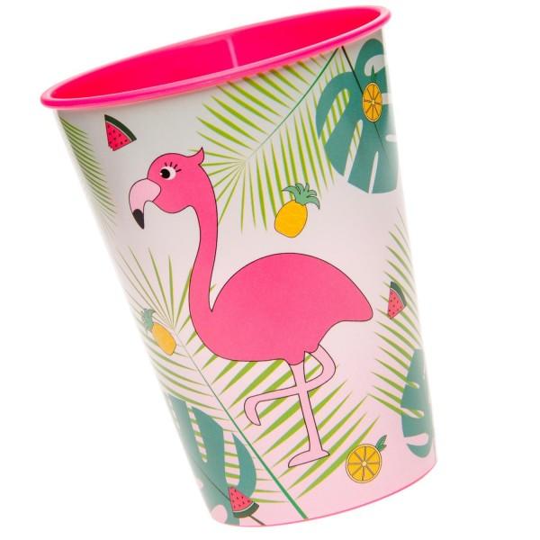 Flamingo Hawaii Kunststoff Becher 1 Stück