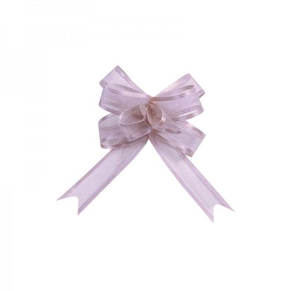 Ziehschleifen Geschenkschleifen lavendel 14cm x 10cm aus Organza mit Satinkante 5 Stück