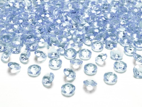 Dekosteine Diamanten blau hellblau 100 Stück 12mm Durchmesser