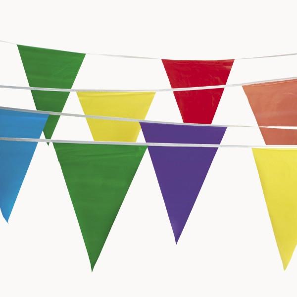 Wimpelkette, Girlande, Banner 30m lang aus PVC für Geburtstag Party