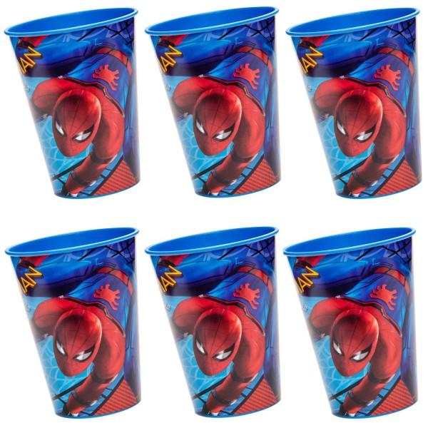 Spiderman Kunststoff Becher 6 Stück
