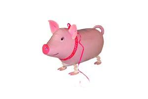 Folienballon Airwalker Glücks-Schweinchen