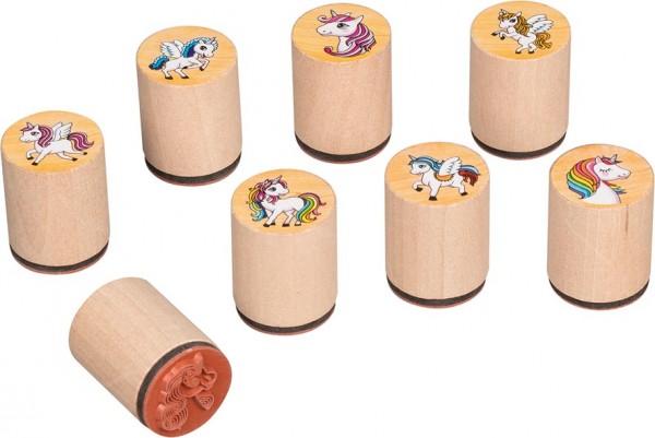Holzstempel Stempel Einhorn 8 Stück von goki