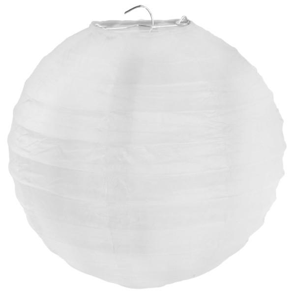 Lampion Weiß 50cm Durchmesser Laterne 1 Stück