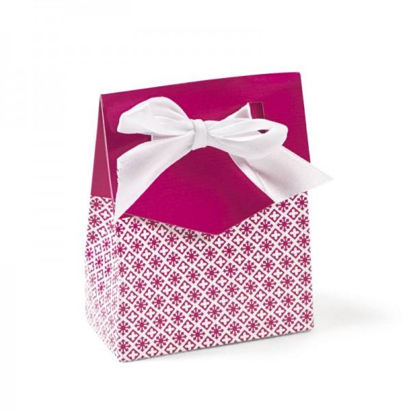 Geschenkboxen Faltboxen Pink mit Schleife 12 Stück