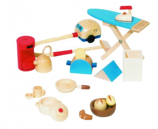 Puppenmöbel Zubehör Accessoires 19 Teile goki Puppenstube