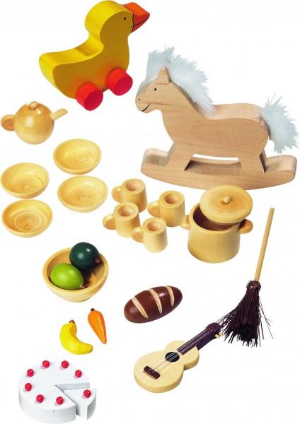 Puppenmöbel Zubehör Accessoires 23 Teile goki Puppenstube