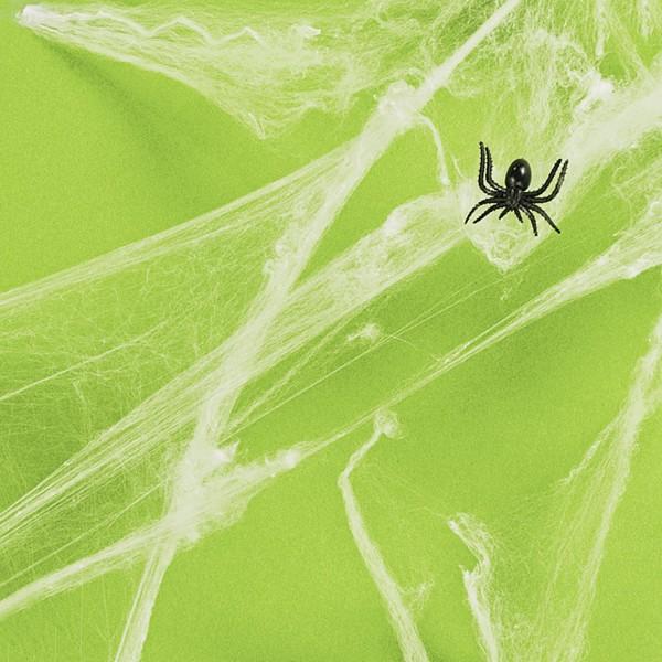 Spinnennetz Spinnweben mit Halloween Spinnen je 12 Stück