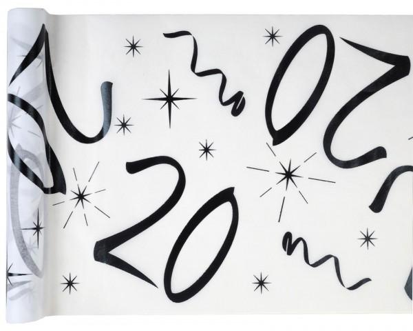 Tischläufer Vlies Zahl 20 Geburtstag 5m