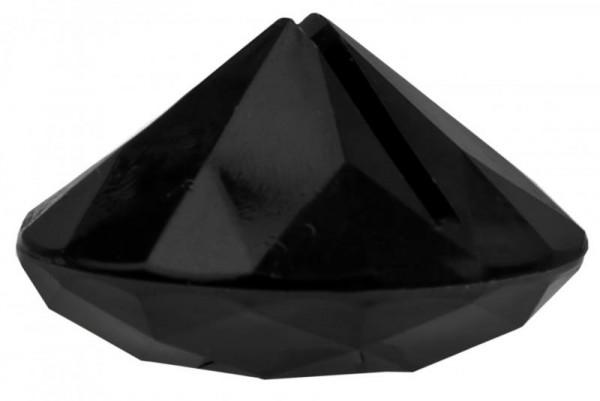 Tischkartenhalter Diamant Schwarz für Namensschild 4 Stück