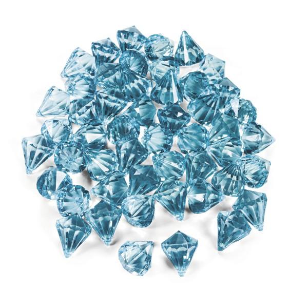 Dekosteine Diamanten aus Plastik hellblau türkis Tischdeko Streuteile 25 Stück