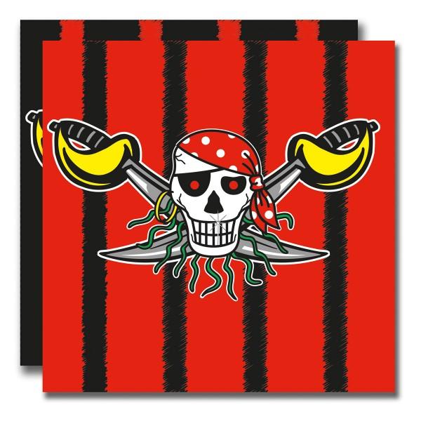 Red Pirate Servietten Piraten Party 20 Stück