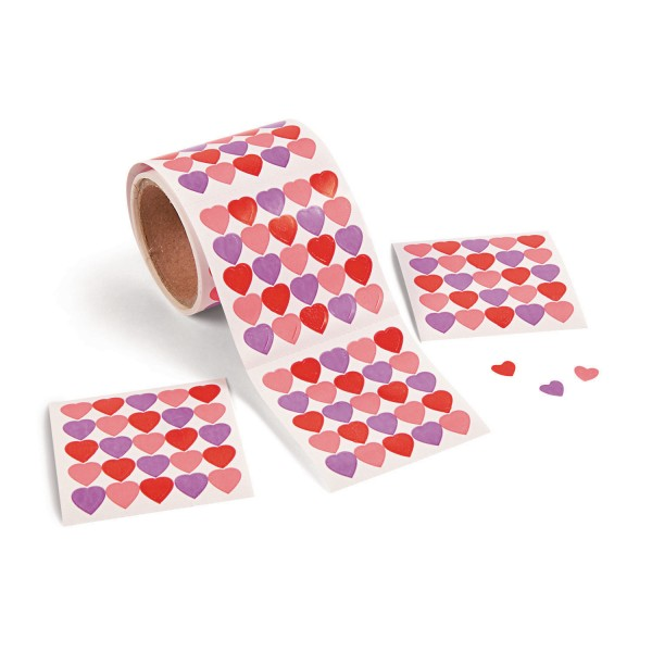 Mini Herz Aufkleber Sticker 1000 Stück