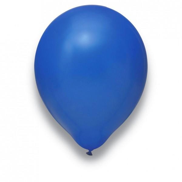 Luftballon Latexballon Royalblau 31 cm mit Helium