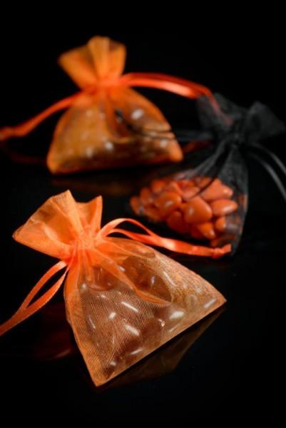 Organzabeutel Organzasäckchen schwarz 7,5cm x 10cm für Hochzeitsmandeln und Gastgeschenke 10 Stück