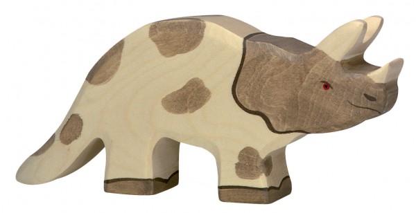 Triceratops Dino Holzfigur Holzspielzeug von Holztiger