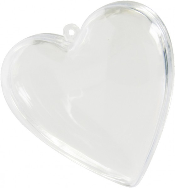 Herz transparent ca. 8cm zum befüllen für Hochzeit 50 Stück