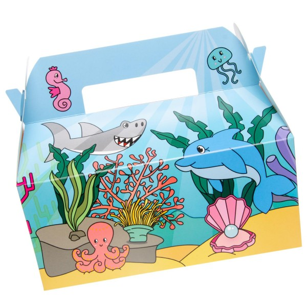 Lustige Meerestiere Geschenkboxen Partyboxen 6 Stück
