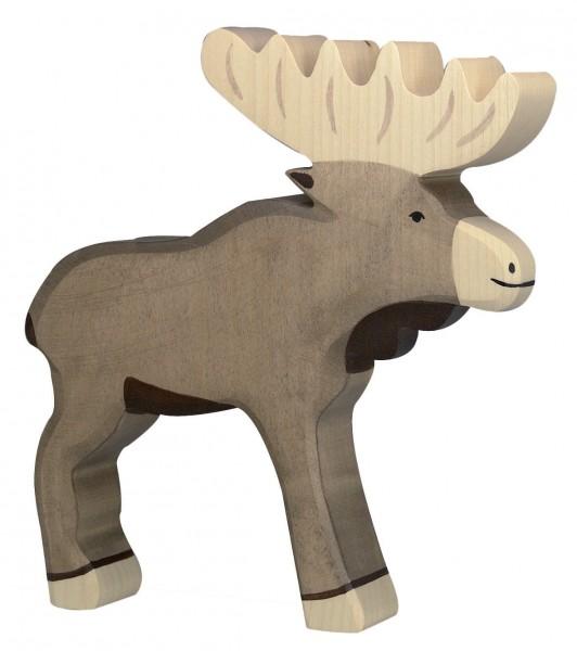 Elch Waldtier Holzfigur Holzspielzeug von Holztiger