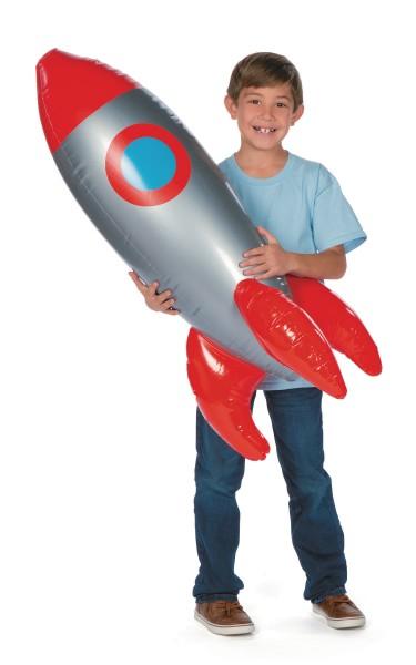 Rakete aufblasbar Weltraum Space Raumschiff 100cm groß