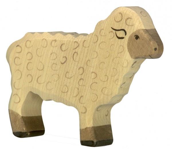 Schaf stehend Bauernhof Holzfigur Holzspielzeug von Holztiger
