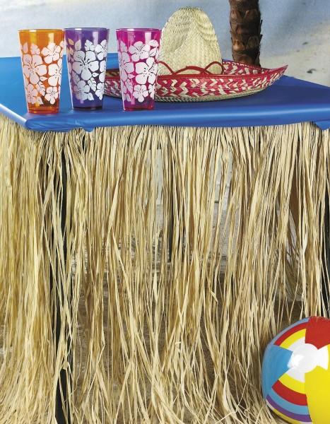 Tischumrandung für Hula Hawaii Beachparty natur Raffia