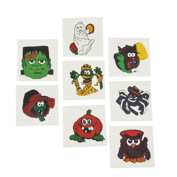 Tattoo Halloween 8 verschiedene Motive 36 Stück