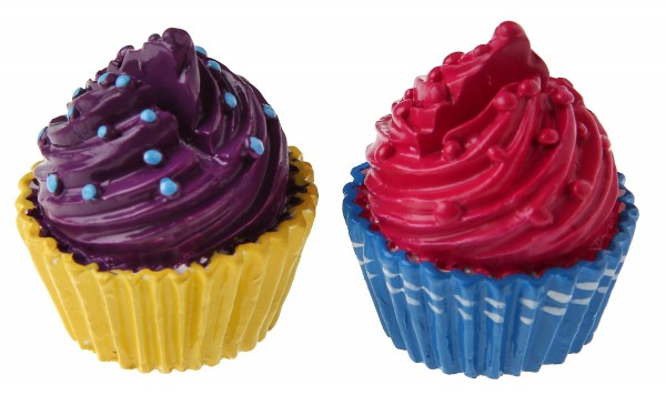 Mini Cupcake pink lila Tischkartenhalter Namensschilder 2 Stück