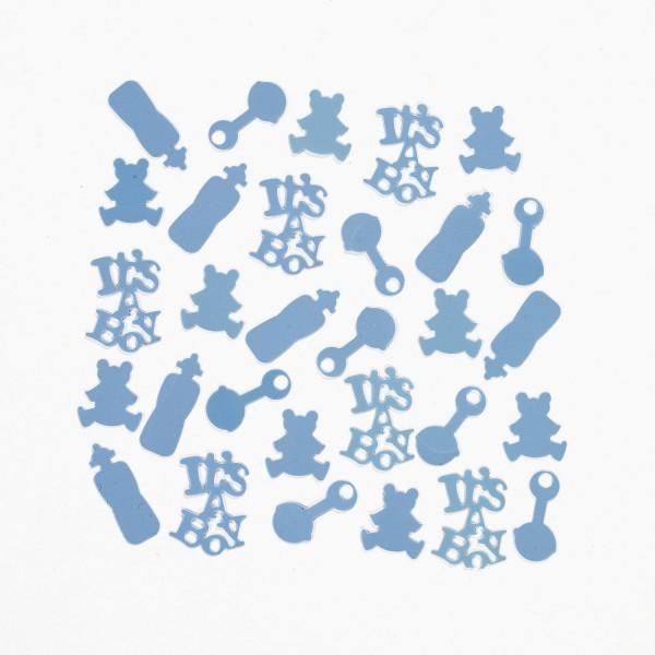 Babyparty Boy blau Konfetti Tischdeko