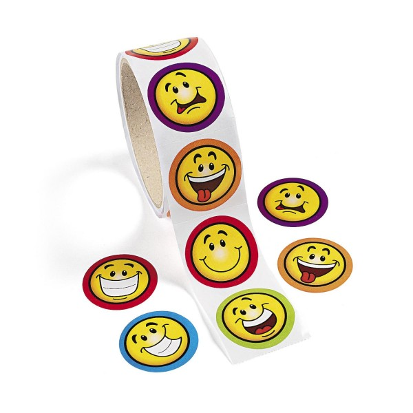 Aufkleber lachende Smileys 100 Stück